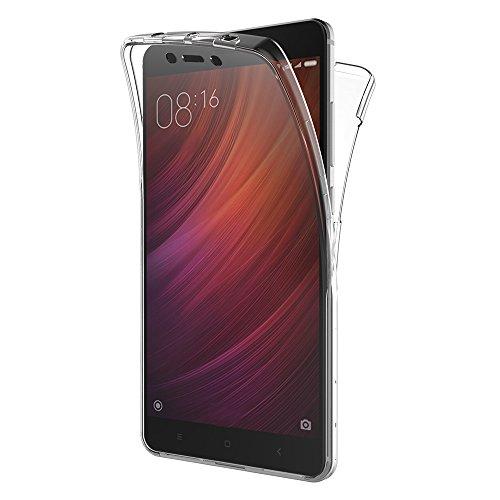 """AICEK Funda Xiaomi Redmi Note 4, Transparente Silicona 360°Full Body Fundas para Xiaomi Redmi Note 4 Carcasa Silicona Funda Case (5.5"""")"""