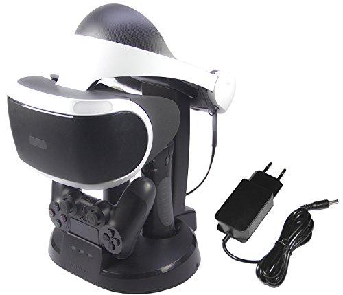 AmazonBasics - Estación de carga y expositor para PlayStation VR, Negro (Para CECH-ZCM1x series PS Move Motion Controller )