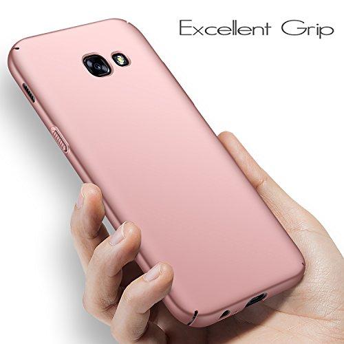 Anccer Funda para Samsung Galaxy A5 2017 [Serie Colorida] [Ultra-Delgado] [Ligera] Anti-rasguños Estuche para Carcasa Samsung Galaxy A5 2017 (Oro Rosa Liso)