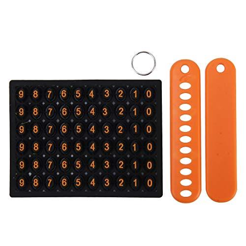 Anillos de la Llave del Coche Key Ring Keychain de múltiples Funciones del Coche Auto Universal perdido Anti de Goma con la instalación aleatoria Número de Teléfono (Color : Orange)