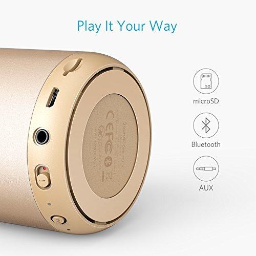 Anker Altavoz Bluetooth, Soundcore Mini, Super Altavoz portátil con 15 Horas de reproducción, Rango de 20 Metros Bluetooth, Bajos mejorados, Funciona con iPhone, iPad, Samsung, Nexus, HTC y más