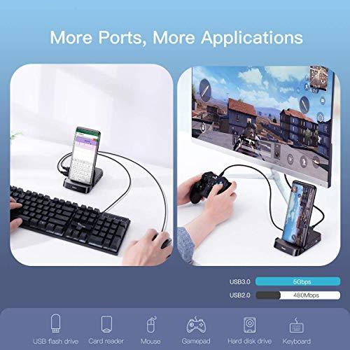 Baseus USB C HUB para teléfono Inteligente, Smart Dex-Station, Tipo C a 4K HDMI, estación de Acoplamiento para Samsung Galaxy S10 / S9 / S8/ Note 9/8, Huawei P30 / P20 Pro/Mate 10, etc.