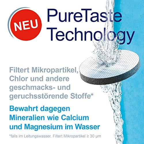 Botella filtrante BRITA Active Azul - Filtro TecnologíaMicroDisc, Óptimo sabor para disfrutar en cualquier lugar, Botella de Agua sin BPA, 0.6 litros
