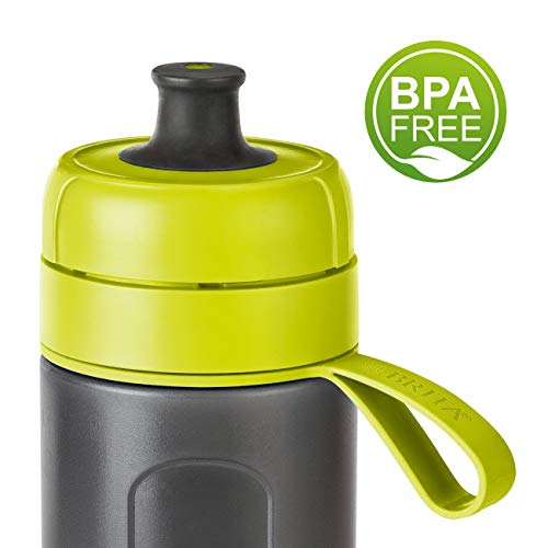 Botella filtrante BRITA Active Verde - Filtro TecnologíaMicroDisc, Óptimo sabor para disfrutar en cualquier lugar, Botella de Agua sin BPA, 0.6 litros