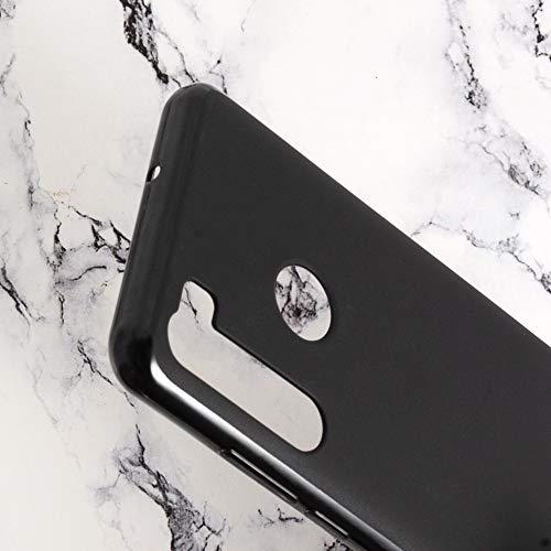 """Brands LJSM Funda para HTC Desire 20 Pro + [3 Piezas] Vidrio Templado Película Protectora - Negro Carcasa Silicona TPU Suave Caso Case para HTC Desire 20 Pro (6.5"""")"""