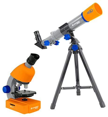 Bresser Junior - Microscopio (40 x 640 x con iluminación LED con Funcionamiento con Pilas)