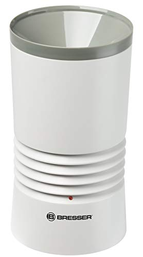 Bresser Optics 7002530 Pluviómetro, Negro, Blanco, 20x11x11 cm
