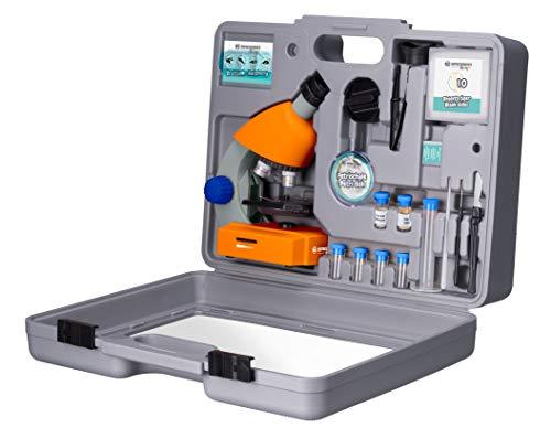 Bresser Optics 8851310 Optical Microscope 640x - Microscopio (Optical Microscope, 640x, 40x, 2X, Naranja, De plástico)