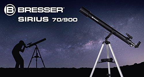 Bresser Sirius 70/900 AZ - Telescopio con trípode de aluminio, color blanco