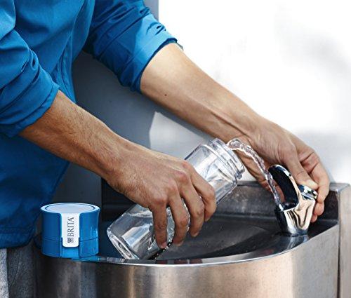 BRITA Vital Botella de Agua Filtrada de 0,6 L con 1 Filtro Microdisc, Azul/Transparente, 0.6 Litros