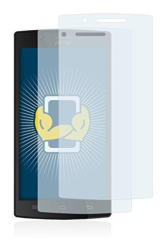 BROTECT Protector Pantalla Compatible con Primux Alpha 4 Protector Transparente (2 Unidades) Anti-Huellas