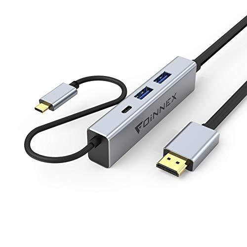 Cable USB C a HDMI 3M,Power PD de Carga,2 USB3.0. Adaptador Tipo c Dex Dock para Samsung S9,S8,S10 Plus,Note 10/9/8, Huawei P30/P20, Mate 30/20, MacBookPro,Nintendo Switch,Surface,Chromebook TV Hub 4K