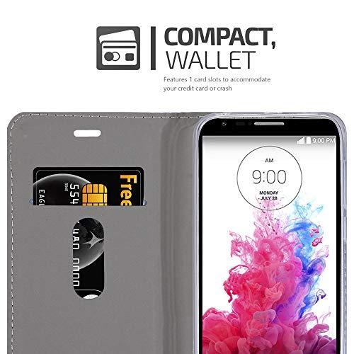 Cadorabo Funda Libro para LG G3 Mini / G3S en Azul Oscuro Negro - Cubierta Proteccíon con Cierre Magnético, Tarjetero y Función de Suporte - Etui Case Cover Carcasa