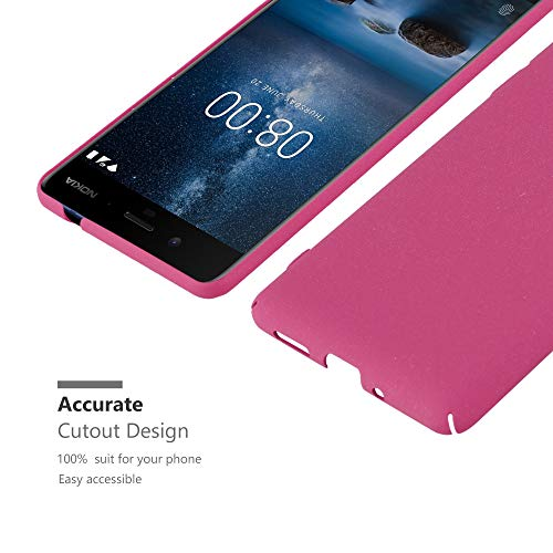 Cadorabo Funda para Nokia 8 2017 en Frosty Rosa - Cubierta Protección de Plástico Duro Super Delgada e Inflexible con Antichoque - Case Cover Carcasa Protectora Ligera