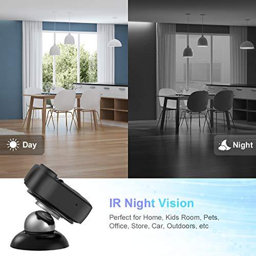 Cámaras espía Oculta Mini Camara Espia WiFi Camaras de vigilancia 1080P HD Magnética Micro Camara Detector de Movimiento IR Visión Nocturna 150ºGran Angular Camaras de Pequeña Interior/Exterior