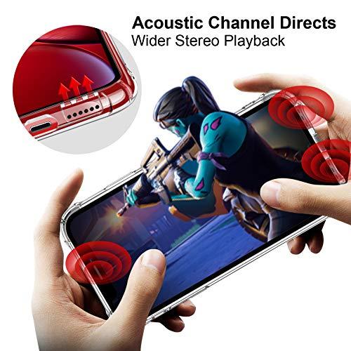 "CANSHN Funda iPhone XR, Carcasa Protectora Antigolpes Transparente con Parachoques de TPU Suave Flexible [Slim Delgada] Anti-Choques Compatible para Apple iPhone XR 6,1"" - Transparente"