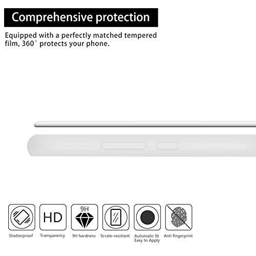 cuzz Funda para Huawei P8 Lite (2017)+{Protector de Pantalla de Vidrio Templado} Carcasa Silicona Suave Gel Rasguño y Resistente Teléfono Móvil Cover-Azul Claro