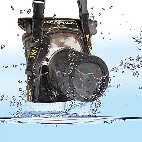 Dicapac WP-S5 - Carcasa submarina para cámara (Poliuretano, PVC, 450 g, 210 x 180 x 50 mm)