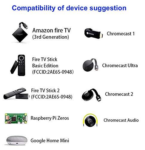 DigitCont Adaptador Micro USB Ethernet de 2ª generación con USB OTG Hub compatible con TV Stick, Chromecast Ultra/2/1/Audio, Google Home Mini (LAN RJ45 con cable de Internet), color negro