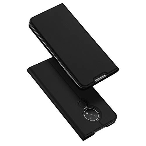 DUX DUCIS Funda Nokia 6.2 / Nokai 7.2, PU Cuero Flip Folio Carcasa [Magnético] [Soporte Plegable] [Ranuras para Tarjetas] para Nokia 6.2 / Nokai 7.2 (Negro)