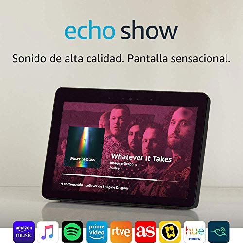 Echo Show (2.ª generación) – Mantén el contacto con la ayuda de Alexa, negro