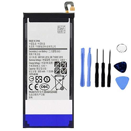 Ellenne Batería Compatible con Samsung A5 2017 A520 EB-BA520ABE de Alta Capacidad 3000 mAh con Kit de desmontaje Incluido