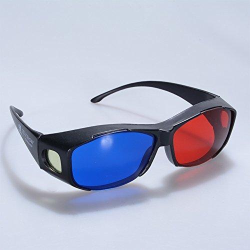 ETbotu Accesorios para hombres, gafas 3D Direct-3D – Nvidia 3D Vision Ultimate Anaglifo Gafas 3D – Hecho para caber sobre gafas graduadas