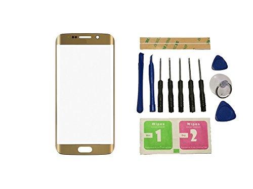 Flügel Cristal Frontal para Samsung Galaxy S6 Edge Plus G9280 G928 G928F Pantalla frontal de lentes de vidrio Oro ( sin táctil pantalla sin LCD ) de Recambio & Herramientas