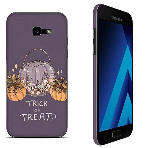 Funda Galaxy A5 2017 Carcasa Samsung Galaxy A5 2017 Víspera de Todos los Santos Truco o seguimiento paura / Cubierta Imprimir también en los lados / Cover Antideslizante Antideslizante Antiarañazos