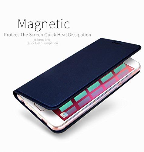 Funda Samsung Galaxy A5 2017, DUX DUCIS Skin Pro Series Ultra Slim Layered Dandy, Pata De Cabra,Magnetico, TPU Parachoques, Protección De Cuerpo Completo para Samsung Galaxy A5 2017 (Azul Marino)