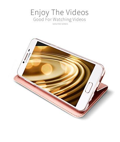 Funda Samsung Galaxy A5 2017, DUX DUCIS Skin Pro Series Ultra Slim Layered Dandy, Pata De Cabra,Magnetico, TPU Parachoques, Protección De Cuerpo Completo para Samsung Galaxy A5 2017 (Oro Rosa)