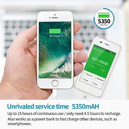 GlocalMe G3 Router Móvil 4G LTE, Global de Alta Velocidad WiFi Móvil con 1GB de Datos de Internet para el iPhone, el iPad, la Tableta y la Computadora, Punto de Acceso MIFI para Viajar (Oro)