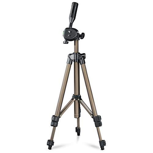 Hama Star 05 - Trípode para cámaras Foto/Video, 106.5 cm, Aluminio, Cabeza 3D, Color Dorado/Negro (020509)
