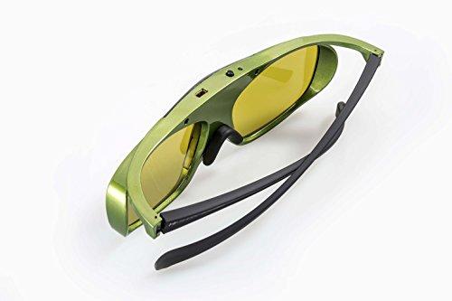 Hi-Shock DLP Pro Lime Heaven - Gafas 3D para proyectores DLP (Compatible con Optoma, Acer, NEC, Benq, Vivitec, Viewsonic, LG, NEC [Gafas de Obturador 96-200 Hz, Funciona con batería de 32 g)