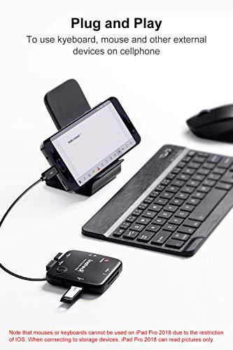 Inateck Adaptador USB con Lector de Tarjetas SD con 3 Puertos USB HUB OTG,HB3001G