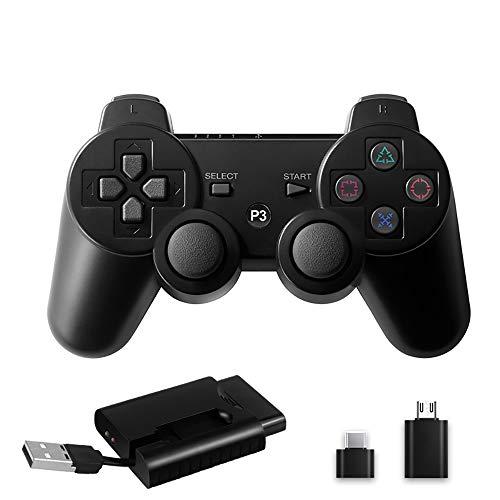 Juego De Palanca De Mando, Palanca De Mando PC 2.4G Juego Inalámbrico con Dual Shock Vibración Compatible con PC Función OTG Android TV Box Smart TV PS3 Anfitrión