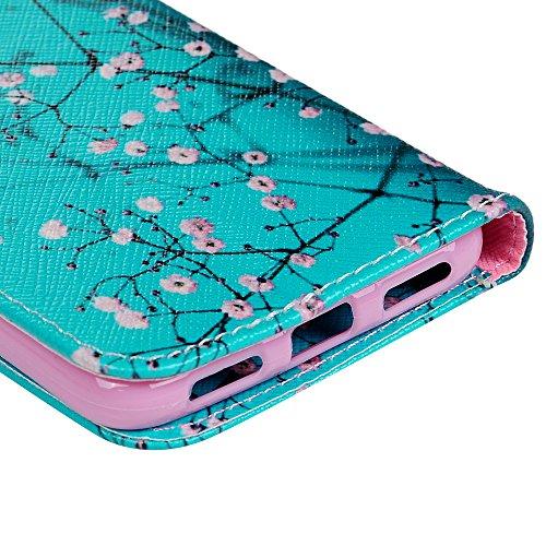 KASOS Huawei P8 Lite 2017 Carcasa, Funda para Huawei P8 Lite 2017 Case de Piel PU Leather Cuero Atril con Tapa Estilo Libro Cartera Wallet Modelo Capoc