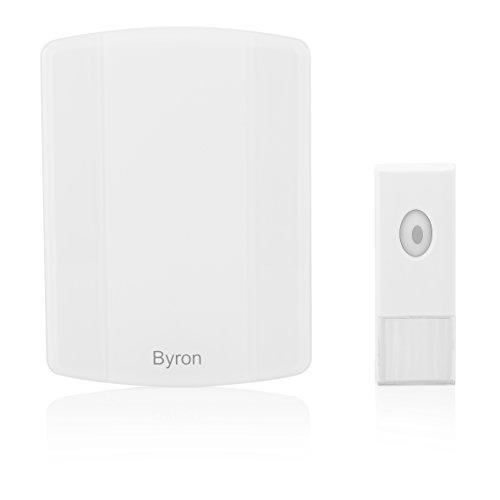 Kit de timbre de puerta MP3 inalámbrico Byron B002E – Alcance 100 m – Función melodías MP3