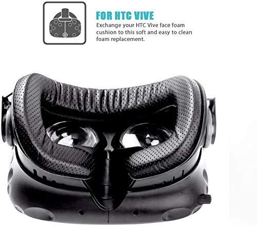 KIWI design HTC Vive VR Face Cover 6mm 12mm 18mm Almohadilla de Reemplazo con Kit de Limpieza para HTC Vive
