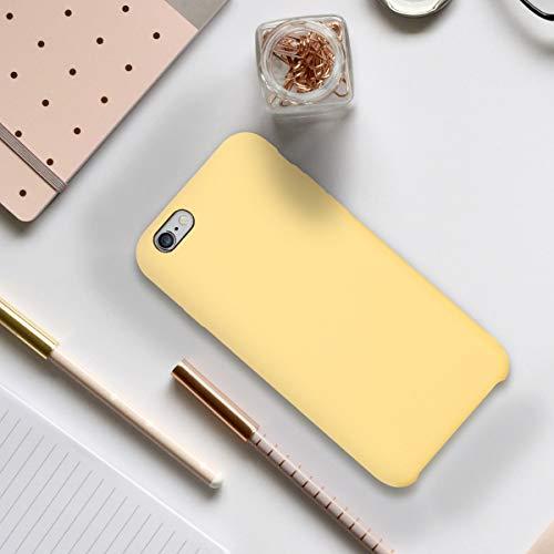 kwmobile Funda Compatible con Apple iPhone 6 / 6S - Carcasa de TPU para móvil - Cover Trasero en Amarillo Mate