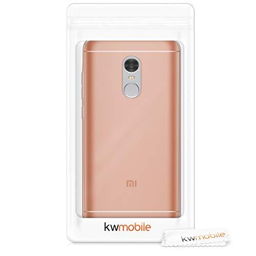kwmobile Funda Compatible con Xiaomi Redmi Note 4 / Note 4X - Carcasa de TPU para móvil - Cover Trasero en Oro Rosa