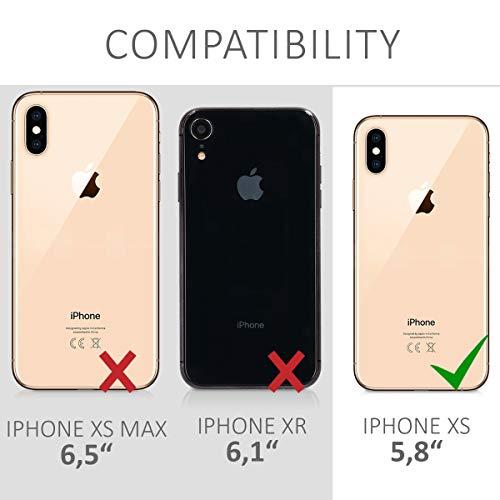 kwmobile Funda con Cuerda Compatible con Apple iPhone XS - Carcasa Transparente de TPU con Cuerda para Colgar en el Cuello