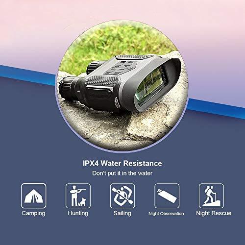 Landove - Binocular de visión Nocturna Digital para Caza 7 x 31 con 2 Pulgadas TFT, LCD HD, Infrarrojos, cámara IR y videocámara, 400 m, Alcance de visualización para 5 MP Foto y vídeo 640 p