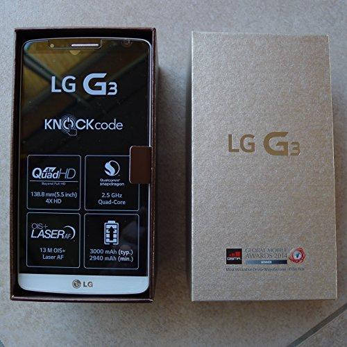 LG G3 D855 - Smartphone Libre Android (Pantalla 5.5inch, Cámara 13 MP, 16 GB, Quad-Core 2.5 GHz, 2 GB RAM),Gris