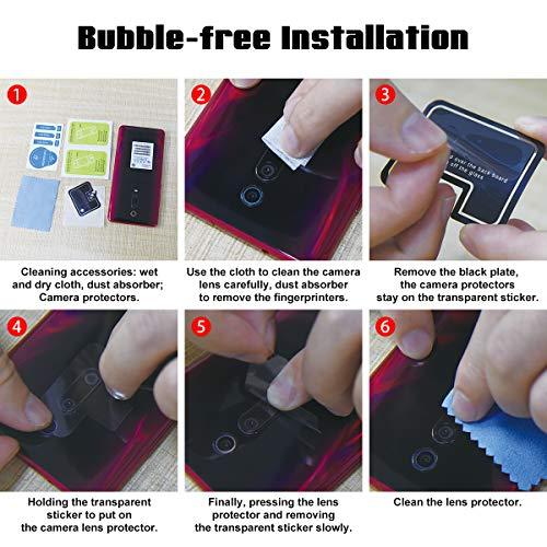 LONROL Protector de Pantalla de la Cámara para Xiaomi Mi 9 3-Pack 9H Anti-explosión Anti-rasguños Película Protectora de Lente de la Cámara de Vidrio Templado para Xiaomi Mi 9