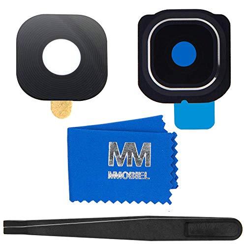 MMOBIEL Reemplazo Lente para cámara Trasera (Posterior) con Cubierta Compatible con Samsung Galaxy S6 Edge G925 (Negro)