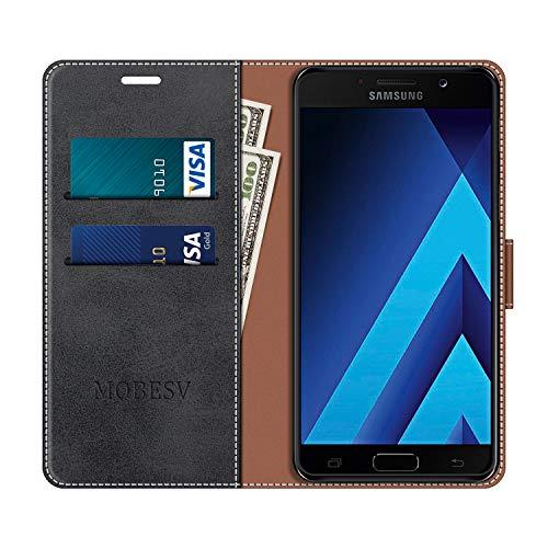 MOBESV Funda para Samsung Galaxy A5 2017, Funda Libro Samsung A5 2017, Funda Móvil Samsung Galaxy A5 2017 Magnético Carcasa para Samsung Galaxy A5 2017 Funda con Tapa, Elegante Negro