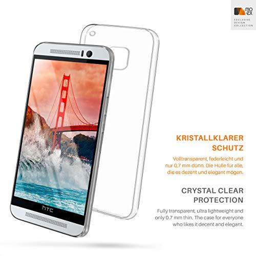 MoEx® Funda [Transparente] Compatible con HTC One M9   Ultrafina y Antideslizante - Transparent
