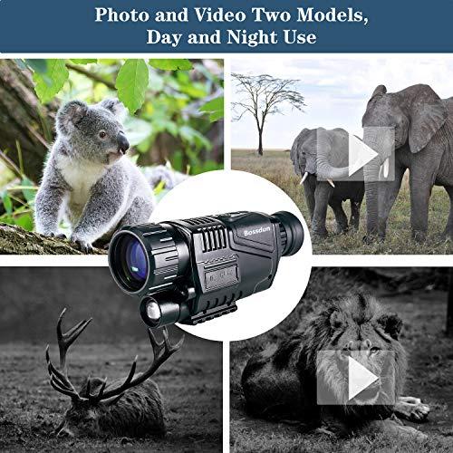 Monocular de Visión Nocturna, 5 x 35 Alcances Digitales de Visión Nocturna HD con Función Recargable/Tomar Fotos/Grabación de Video/Función de Reproducción para Exteriores/Caza/Senderismo