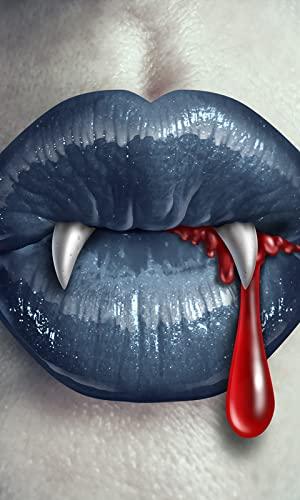 Montaje de la foto de los dientes del vampiro